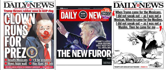 Кампања листа Daily News против Трампа