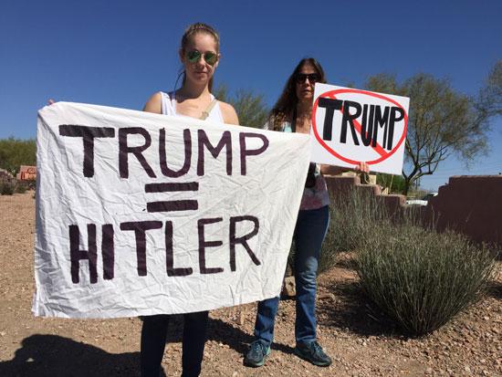 Протести против Трампа (Хитлера)