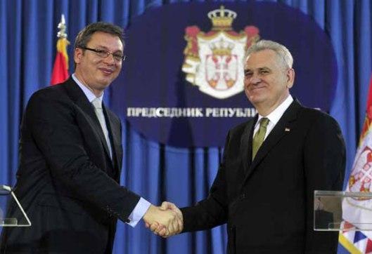 Председник Николић и премијер Вучић (Фото Танјуг/З.Ж.)