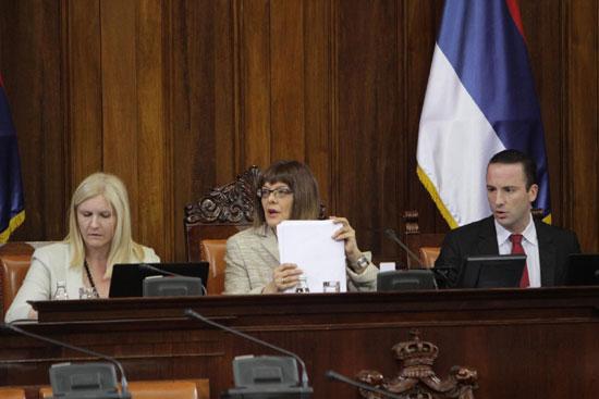 Маја Гојковић у Скупштини (Фото: Фонет)