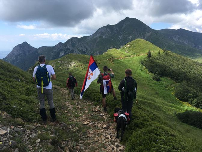 Na grebenu planine Kožuf (u daljini vrh Dudica)