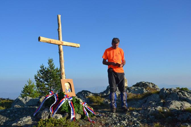 Radoljub Knežević čita molitvu za poginule na Dobrom polju