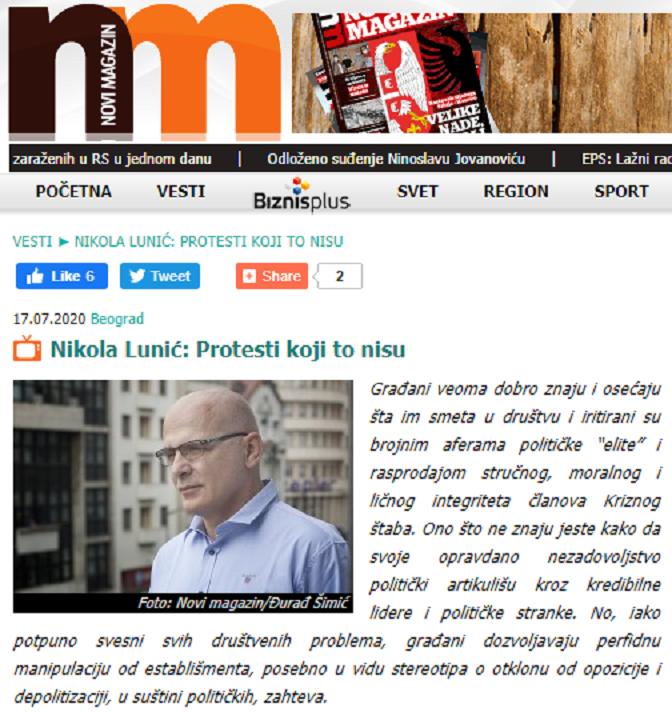 Слободан Антонић: Ко се више препао протеста – Вучић или N1 oпозиција?